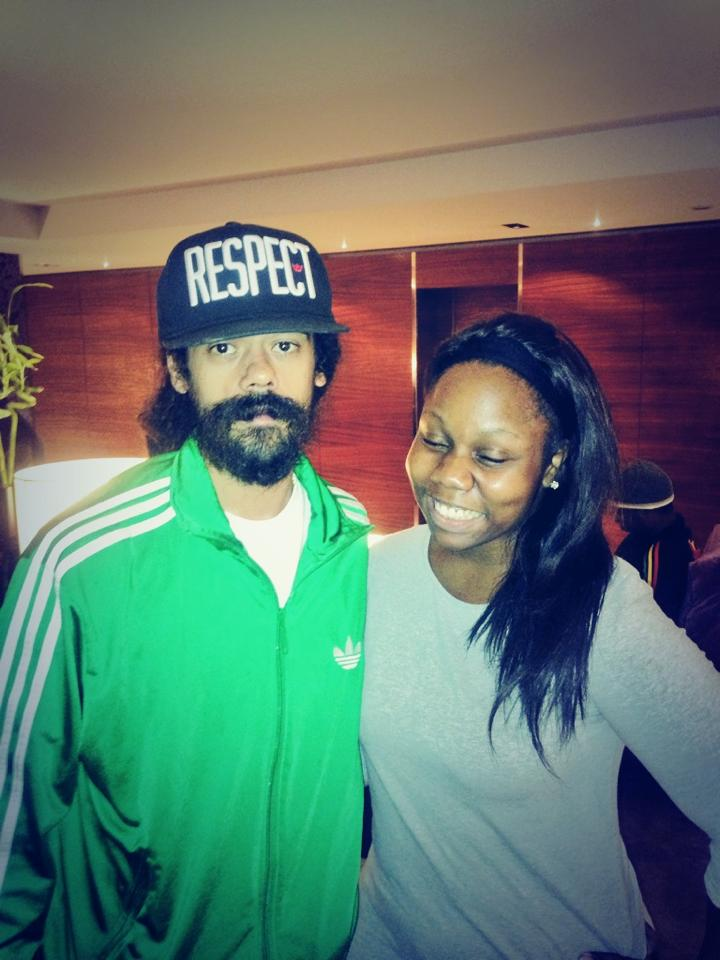 Myself and Damian Marley