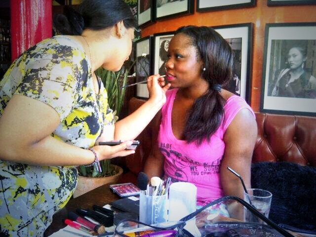 Pre photo shoot prep for Ethnic Restaurant Magazine